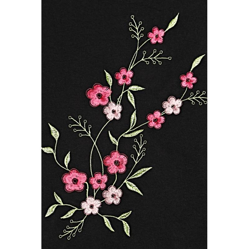 cc24fa68b Čierne úpletové šaty s kvetinkami na dojčenie PKB1642