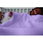 Detská pletená deka do kočiara K002 Lila