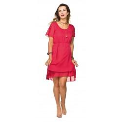 4c7d1f9a58f2 Elegantné červené tehotenské šaty Torelle Megan