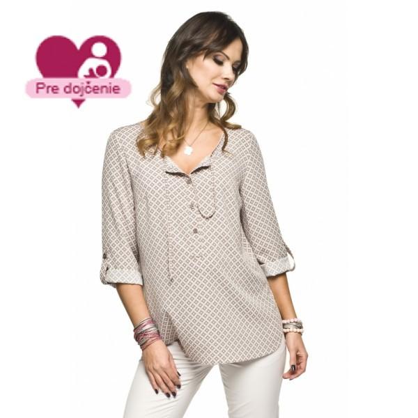 Tehotenská košeľa ATINA beige