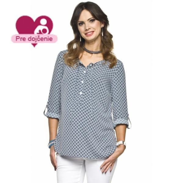 Tehotenská košeľa ATINA Navy
