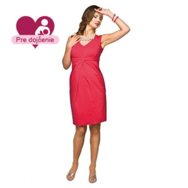 Elegantné púzdrové tehotenské šaty GLORIA Raspberry